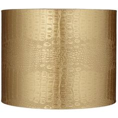 Gold Reptile Embossed Drum Lamp Shade 14x14x11 (Spider)