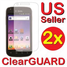 x Samsung Galaxy S Blaze 4G SGH-T769 (T-Mobile) Premium Invisible Clear LCD Screen Protector Kit (2 Piece Kit)