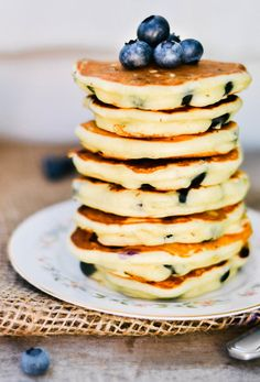 Lemon Blueberry Pancakes. I actually made these and they were amazing! My favorite pancakes ever!