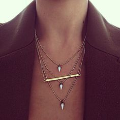 {layering necklaces}