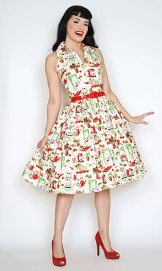 Mari Dress In the Kitchen Print