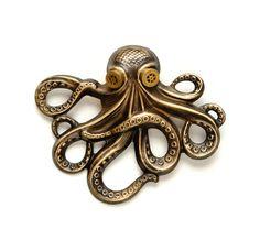Steampunk Jewelry Steampunk Hat Pin Octopus Pin Kraken Cthulhu Jewelry Steampunk…