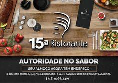 A DÉCIMA QUINTA RISTORANTE, empresa que apóia a 3ª edição da Feijoada Light do Nascente. OBRIGADO