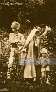 Crown Princess Marie of Romania - wife of the future King Ferdinand, with two of her children, Prince Carol (later Carol II of Romania) and Prince Nicolas. Mary I, Queen Mary, Michael I Of Romania, History Of Romania, Romania People, Romanian Royal Family, Princess Victoria, Queen Victoria, Princess Alexandra