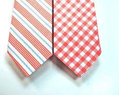 Necktie Mens Neckties Coral Neckties Custom by tuxandtulle on Etsy, $26.00