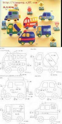 Ateliê Mundo da Lua!: Moldes de carros e coisinhas de meninos