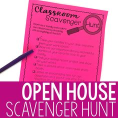 Classroom Scavenger Hunt, Classroom Signs, Classroom Ideas, Toddler Classroom, Middle School Classroom, Back To School Night, First Day Of School, No Homework Policy, Fun Facts About Yourself