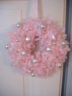 fluffy pink wreath