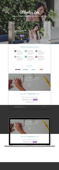 Atlantix Zen SAAS PSD web template
