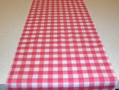 Pink Gingham Table Runner By Bourgebride On Etsy, $15.00