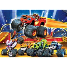 May 2020 on Nick Jr. Central and Eastern Europe Blaze Monster Machine, Blaze And The Monster Machines Cake, Festa Monster Truck, Monster Trucks, Bolo Blaze, Pirate Adventure, Transportation Theme, Central And Eastern Europe, Birthday Backdrop