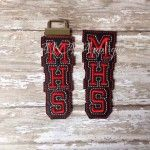 Available as a headband slider or a key fob in your school colors