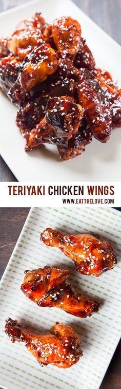 Teriyaki Chicken Wings. An easy recipe with homemade teriyaki glaze. Photo and recipe by Irvin Lin of Eat the Love.
