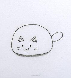 20 Easy Cat Drawing Ideas Simple Cat Drawing, Cute Cat Drawing, Cute Little Drawings, Love Drawings, Easy Drawings, Animal Drawings, Drawing Ideas, Corgi Drawing, Cat Doodle