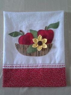 Cesta de maçã em pano de prato Machine Embroidery Patterns, Applique Patterns, Applique Designs, Embroidery Applique, Embroidery Designs, Sewing Patterns, Doll Patterns, Patch Quilt, Sewing Crafts