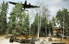 Ju52 and Bf110 . My colored picture.