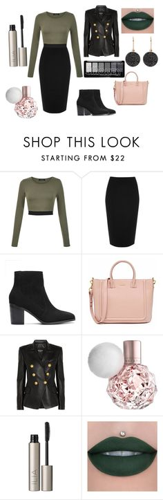 """""""Low key BOSS!!xx"""" by shandlez ❤ liked on Polyvore featuring River Island, Balmain, Ilia and Astley Clarke"""