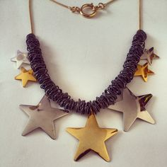 necklace fashion jewelry bisuteria handmade artesano cute love collares collares shuuforyou stars gold beautiful complementos