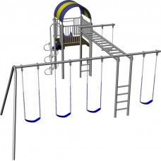 Hercules metal swing set with monkey bars dyi for your for Swing set supports