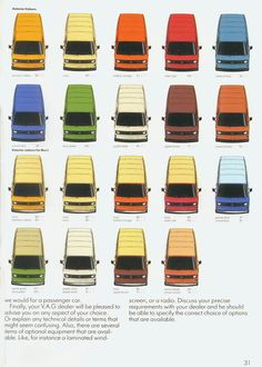 www.vwt3.net: CÓDIGOS DE COLOR DE PINTURA POR MODELO Y AÑO #VW #T3