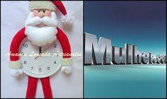 : Papai Noel no Relógio com moldes
