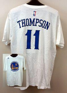 Klay Thompson ADIDAS Golden State Warriors XL NWT NBA White Jersey T shirt $32R #adidas #GoldenStateWarriors #GSW #KlayThompson #basketball #NBA