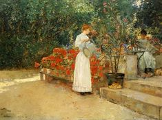 After Breakfast Frederick Childe Hassam - 1887 Private collection Painting - oil on canvas Height: 73.03 cm (28.75 in.), Width: 100.65 cm (39.62 in.)
