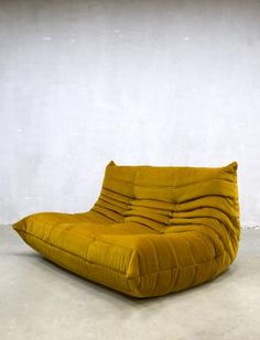 Vintage Velvet Togo Sofa by Michel Ducaroy for Ligne Roset, 1970s 4
