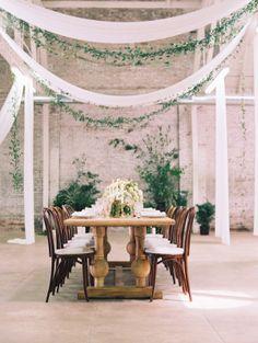 Gorgeous industrial space: http://www.stylemepretty.com/2015/08/13/black-tie-botanical-wedding-inspiration/ | Photography: Diana McGregor - http://www.dianamcgregor.com/9zjnstz06rx2big6r2aogrjuvtfg32