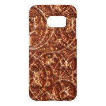 Trendy Chic Abstract Classy Baroque Swirls Pattern Samsung Galaxy S7 Case