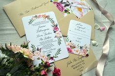 Boho Wedding Invitation, Watercolor Wedding Invitations, Water Color Wedding Invitations, Floral Wedding Invites, Formal Wedding Invitations, Traditional Wedding Invites, Unique Wedding Invitations, Custom Wedding Invites, Simple Wedding Invitations, Wedd