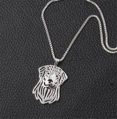 Golden Retriever Charm Necklace. 30% proceeds from every purchase goes to animal charities.