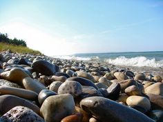 Pure Michigan Petosky Stones - how many neck aches have we had looking for them...