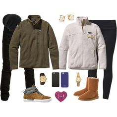 \\♥Happy Valentine's Day♥// by bubblebuddy855 on Polyvore featuring Patagonia, Casall, UGG Australia, Vans, Kate Spade, Rolex, Michael Kors, Coal, Black Apple and SELECTED