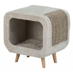 Trixie - Alicia Cuddly Cave,with plush cover, sisal scratching surface and beechwood feet. Sisal, Niche Chat, Faia, Tub Chair, Bassinet, Pet Supplies, Accent Chairs, Relax, Pets