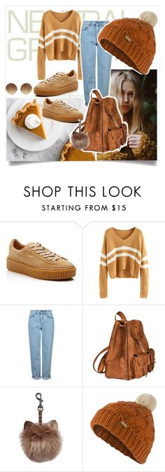 """""""Blah!"""" by teenagedirthbag ❤ liked on Polyvore featuring Puma, Topshop, Yves Saint Laurent, Barbour and Victoria Beckham"""