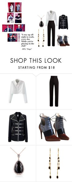 """BTS ""Dope"" Chic"" by nereidanelyc on Polyvore featuring WithChic, Haider Ackermann, Chanel, Christian Dior, Kobelli and Isabel Marant"