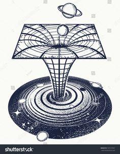 Black hole tattoo and t-shirt design. Symbol of science, astronomy, gravitationa… Black hole tattoo and t-shirt design. Symbol of science, Black Hole Tattoo, Black Tattoos, Small Tattoos, Temporary Tattoos, Surreal Tattoo, Surreal Art, Black Hole Wallpaper, Hole Drawing, Black Hole Sun