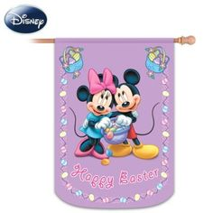 Mickey & Friends Happy Easter Decorative Flag