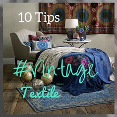 Decorating a Bedroom with Vintage Textiles: Smart Tips for Small Rooms - Perhaps, a bedroom is the most important room in an apartment or a house. Its design is very different from the other rooms, which is fully justified. Vintage Textiles, Other Rooms, Small Rooms, Bedroom Decor, Decorating, Sewing, Fabric, Tips, House