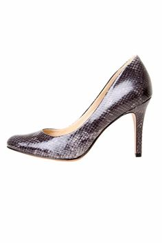 Stylish, classic, rounded toe pump in grey/silver snake pattern.    Heel height: 3.75 in   Gohawk Pumps by Nine West. Shoes - Pumps & Heels - Pumps Canada