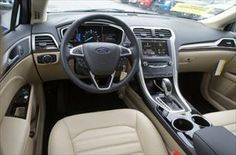 Great Interior in the 2014 Ford Fusion Energi SE Luxury #WhiteMarshFord