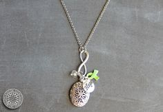 DONATE Necklace- Lyme Disease Awareness- LoveToLove Cause – Fashion Scents Essential Oil Jewelry