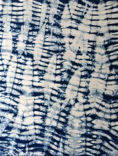 Indigo Shibori Cotton Fabric Half Yard by CapeCodShibori on Etsy