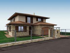 Modern Family House, Modern House Design, Double Storey House Plans, Pool Houses, Villa, House Styles, Building, Home Decor, Hacienda Decor