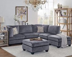Best Farmhouse Living Room Furniture For Sale! Discover the best coffee tables, sofas, end tables, and more. Modular Sectional Sofa, Corner Sectional, Sofas, Couches, Velvet Sofa Set, Farmhouse Living Room Furniture, Chaise Sofa, Furniture Sets, Furniture Decor
