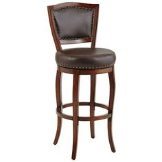 Billings Swivel Barstool - Tobacco Brown