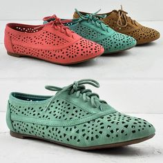 New Women Oxfords Loafers Flat Shoes with Circular Cut Out Design Nature Breeze   eBay