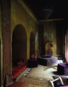 Franca Sozzani's Marrakech home..Franca Sozzani is an Italian journalist and the editor-in-chief of Vogue Italia since 1988