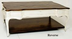 Country French Parquet & Painted Coffee Table | Coffee Tables | Inessa Stewart's Antiques